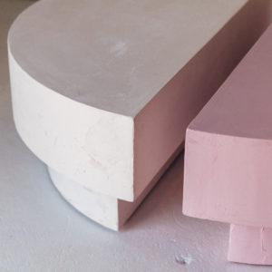 plaster coffee table